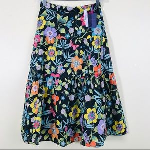 J. Crew Tiered Skirt in Liberty Pavilion Floral